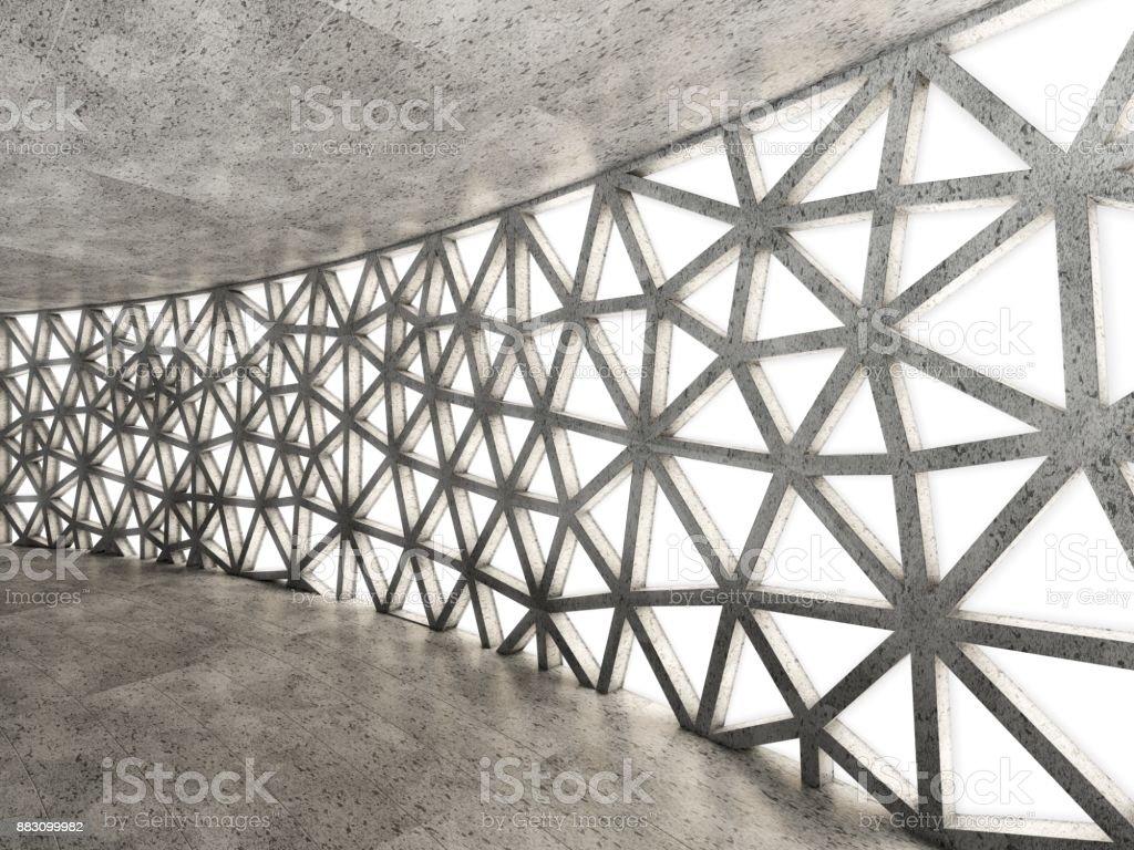 Beton In Interieur : Architectural abstrait concept de béton intérieur du bâtiment