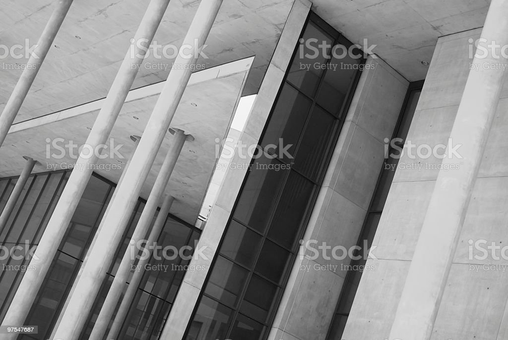 Abstract Architectural Columns royalty-free stock photo