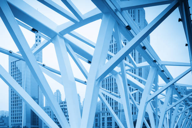 Abstract architectural features, bridge close-up stock photo