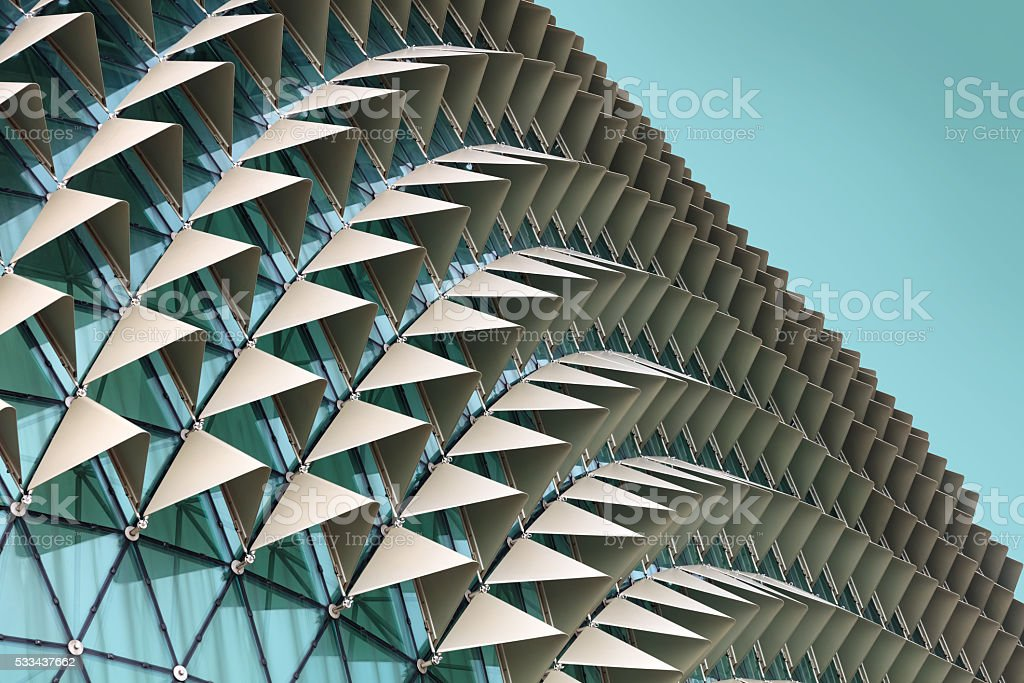 Abstract architectural pattern stock photo