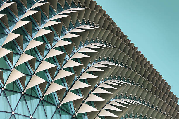 abstract architectural pattern - architecture stock photos and pictures