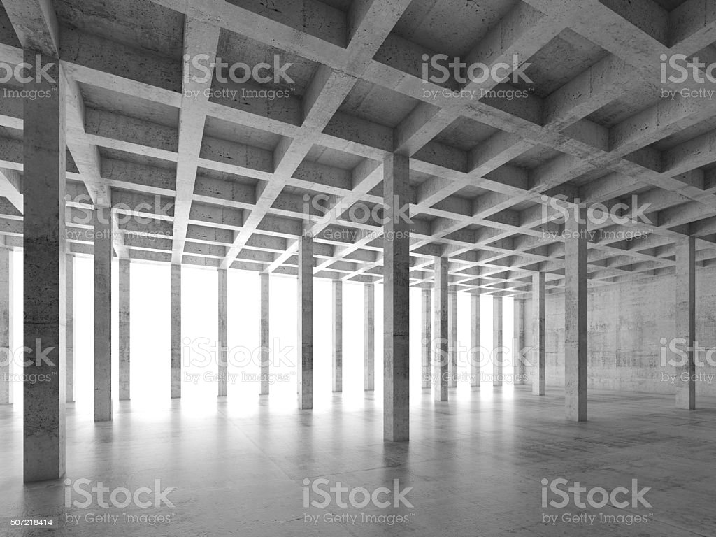 Abstract architecture background with perspective view of empty...