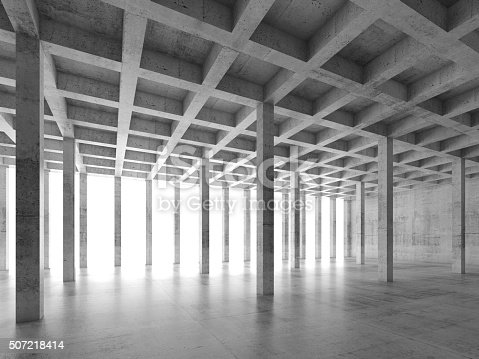 istock Abstract architecture background 3 d 507218414