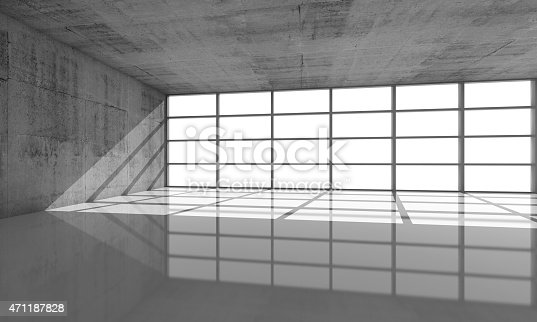 istock Abstract architecture background, 3d concrete interior 471187828