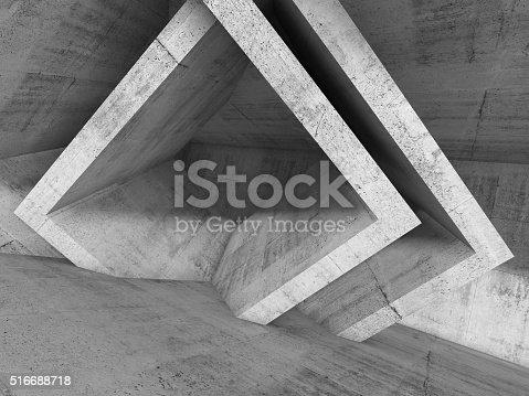 516688156istockphoto Abstract architecture background, 3d illustration 516688718