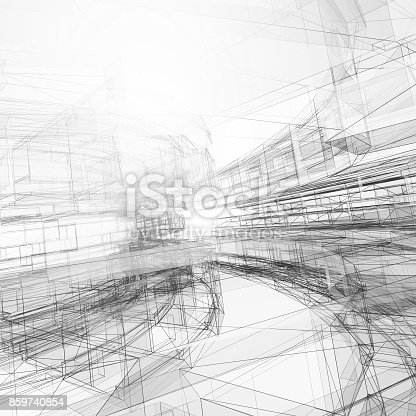 692868922 istock photo Abstract architecture background 3d rendering 859740854