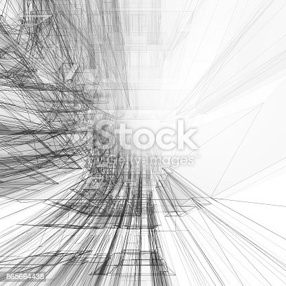 692868922 istock photo Abstract architecture background 3d rendering 865664438