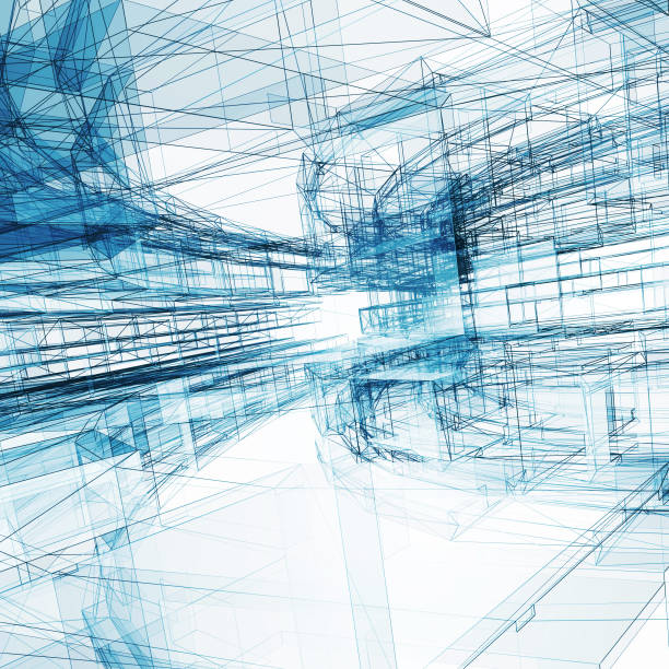 Abstract architecture background 3d rendering stock photo