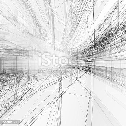692868922 istock photo Abstract architecture background 3d rendering 868561214