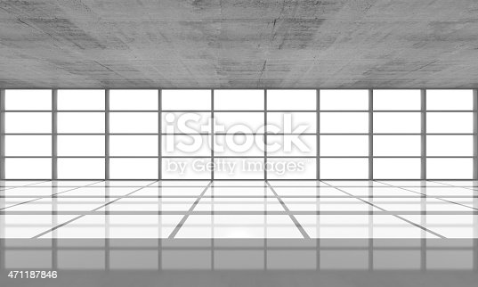 istock Abstract architecture background, empty concrete interior 471187846