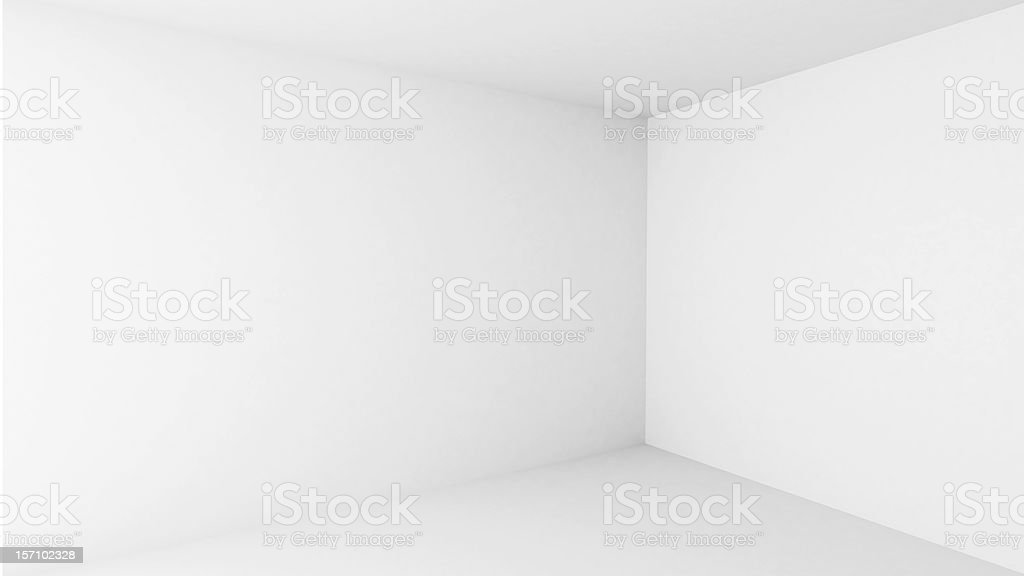 Abstract architecture background. Empty white room interior stock photo