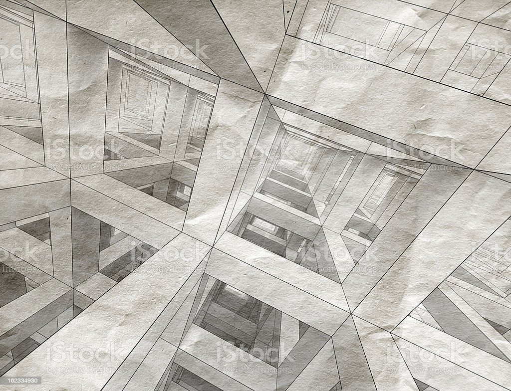 Abstract architecture background. Internal space of a modern bra royalty-free stock photo