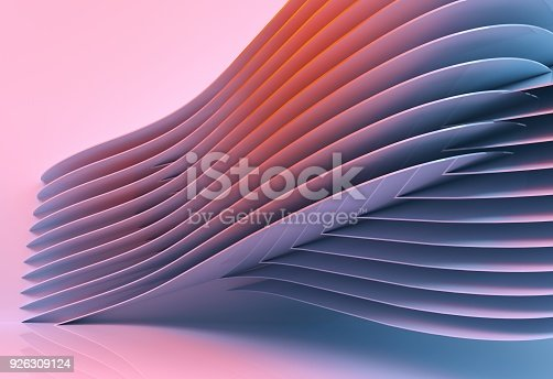 926309124 istock photo abstract architecture background multicolor - 3d rendering 926309124