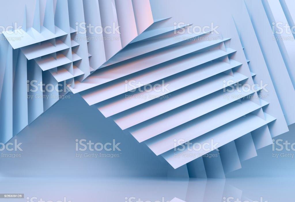 abstrait architecture multicolor - 3d rendu - Photo de Abstrait libre de droits