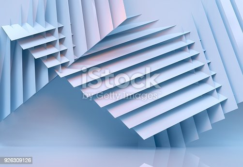 926309124 istock photo abstract architecture background multicolor - 3d rendering 926309126