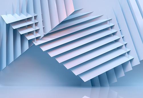 Photo libre de droit de Abstrait Architecture Multicolor 3d Rendu banque d'images et plus d'images libres de droit de Abstrait
