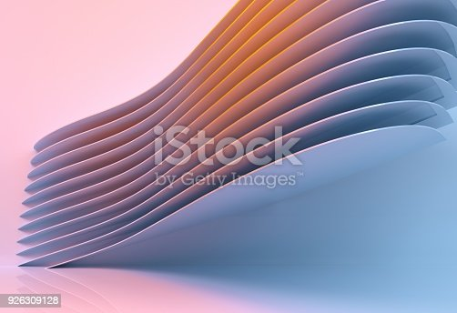 926309124 istock photo abstract architecture background multicolor - 3d rendering 926309128