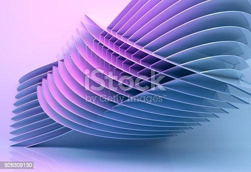 926309124 istock photo abstract architecture background multicolor - 3d rendering 926309130