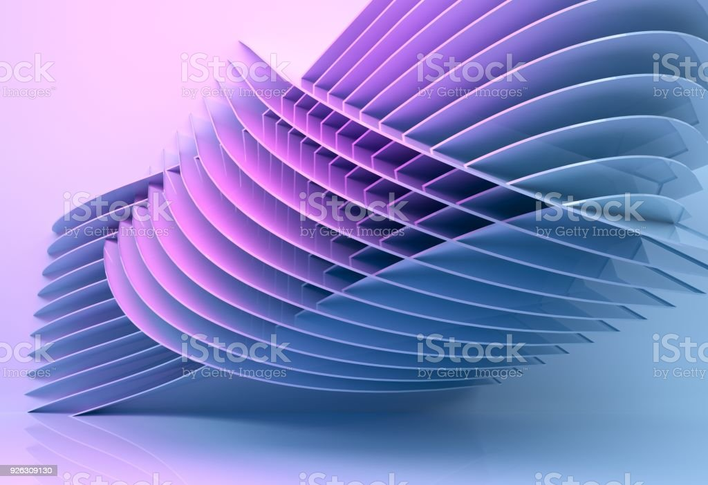 abstract architecture background multicolor - 3d rendering stock photo