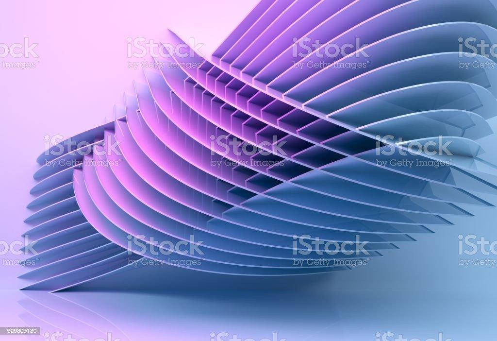3 d レンダリング アーキテクチャ背景多色を抽象化します。 ストックフォト