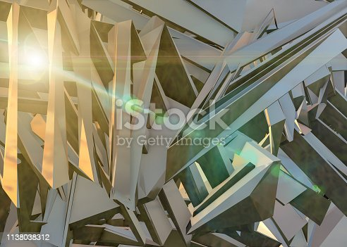 926309124 istock photo Abstract architecture background multicolor 1138038312