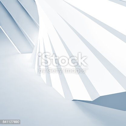 istock Abstract architecture background, white 3d 541127692