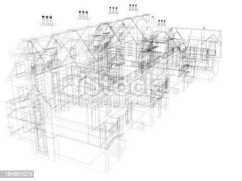 184405668 istock photo abstract architecture Blueprint Construction Modern  Villa  2 184651075