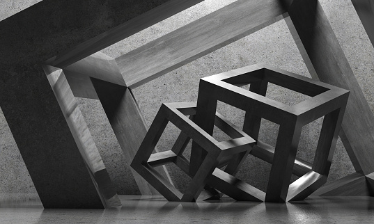 Abstract architecture cubes
