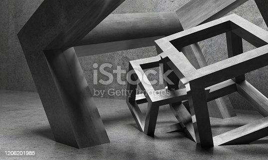 639291528 istock photo Abstract architecture cubes 1206201985