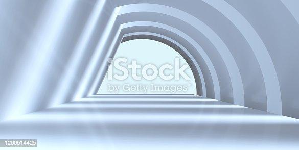 470731180istockphoto Abstract architecture empty corridor 1200514425