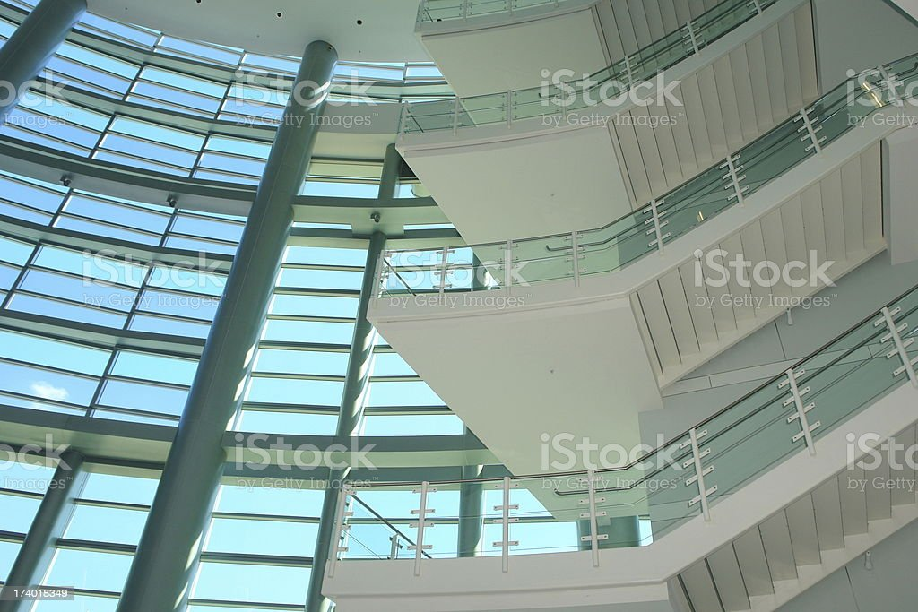 Abstract Architecture Glass Stairs royalty-free stock photo