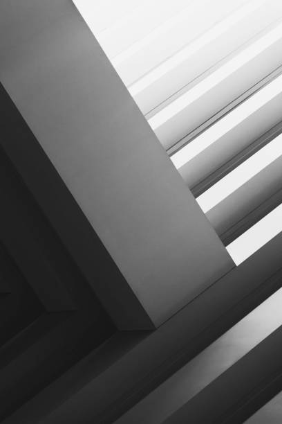 Abstract architecture in black and white I stock photo