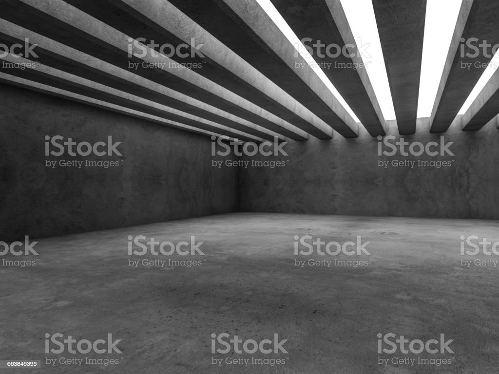 Abstract architecture interior background. 3d rendering stock photo