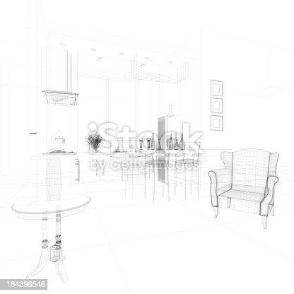 istock abstract architecture  Kitchen 10 184396546