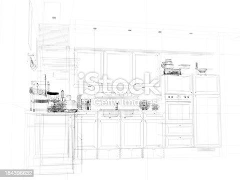 istock abstract architecture Kitchen 11 184396632