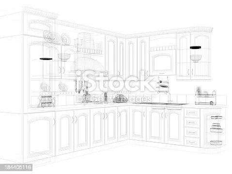 528056058istockphoto abstract architecture Kitchen 14 184405116