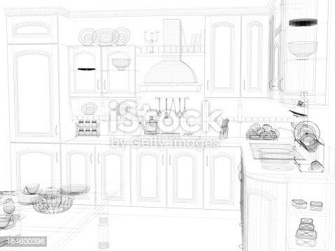184393512 istock photo abstract architecture Kitchen 15 184600396