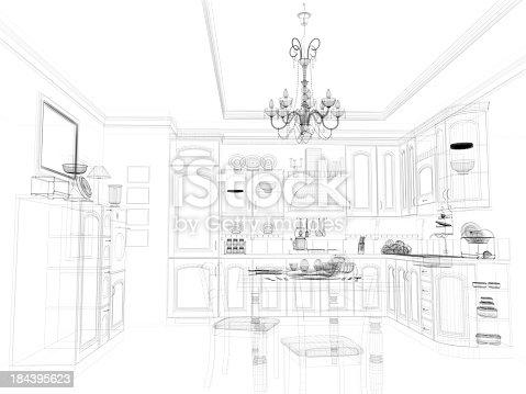 184393512 istock photo abstract architecture Kitchen 16 184395623