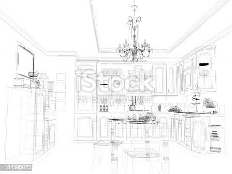 istock abstract architecture Kitchen 16 184395623