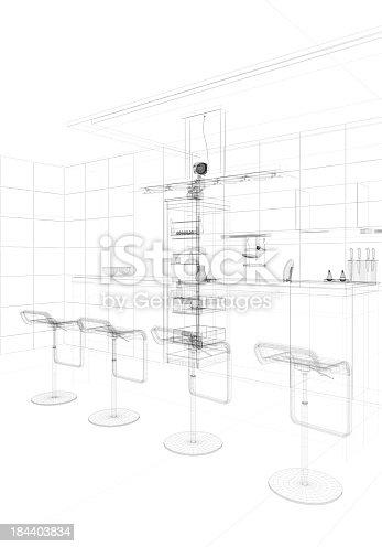 istock abstract architecture Kitchen 17 184403834