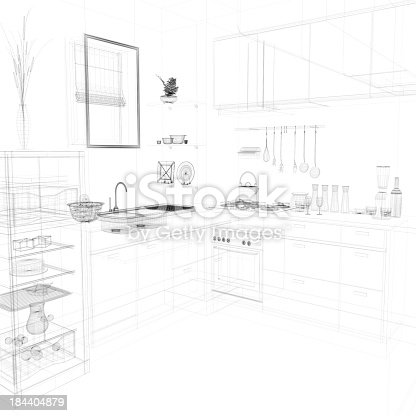 528056058istockphoto abstract architecture Kitchen 18 184404879