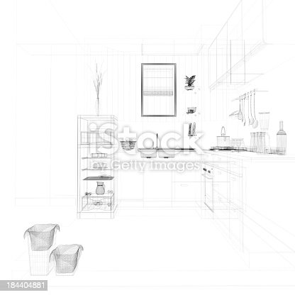 istock abstract architecture Kitchen 19 184404881
