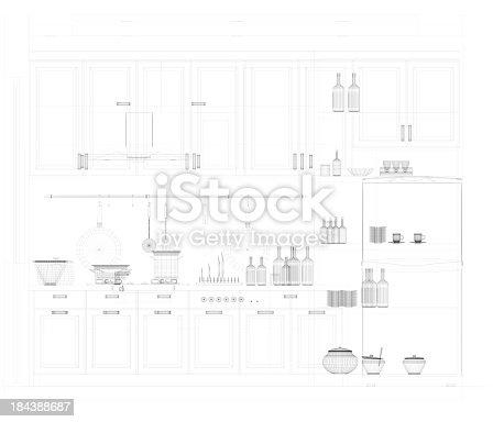 istock abstract architecture  Kitchen 4 184388687