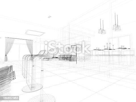 528056058istockphoto abstract architecture  Kitchen 5 186852983