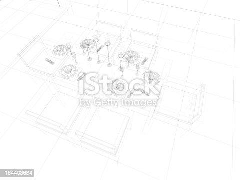 184393512 istock photo abstract architecture  Kitchen 6 184403684