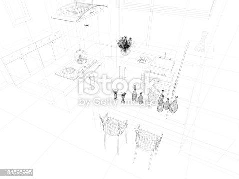 istock abstract architecture  Kitchen 9 184595995