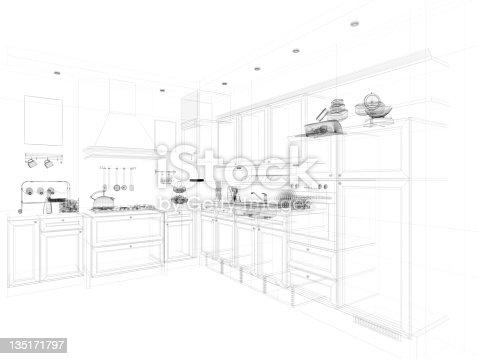 istock abstract architecture Kitchen 135171797
