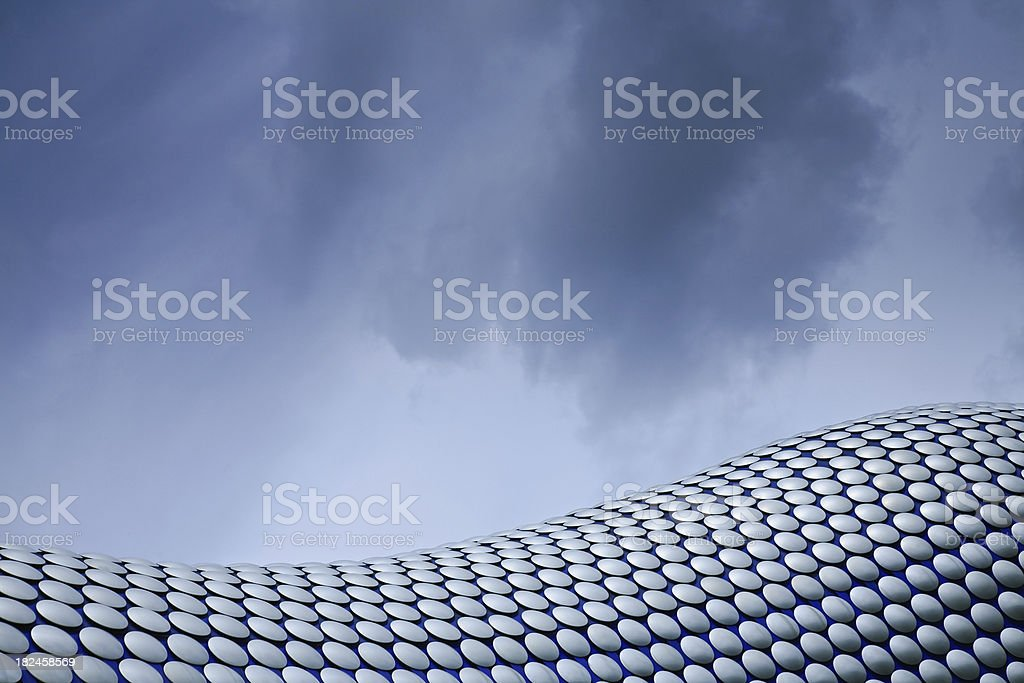 Abstract architecture of Bullring Shopping Centre stock photo