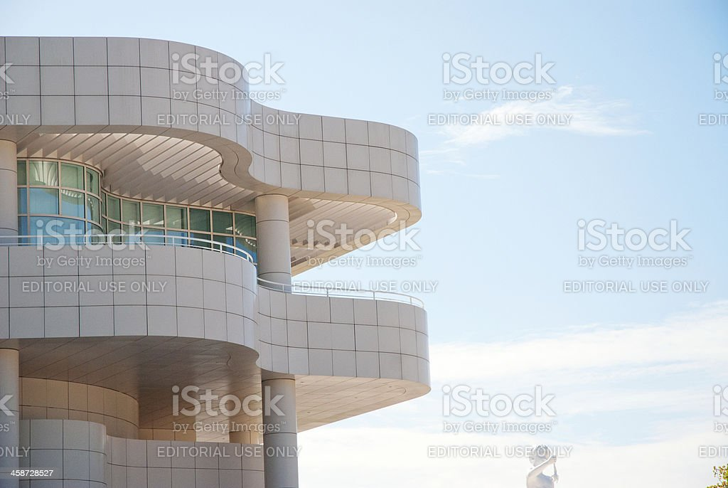 abstract architecture of paul getty museum royalty-free stock photo
