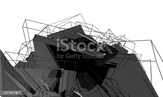 639291528 istock photo Abstract architecture 1217077877